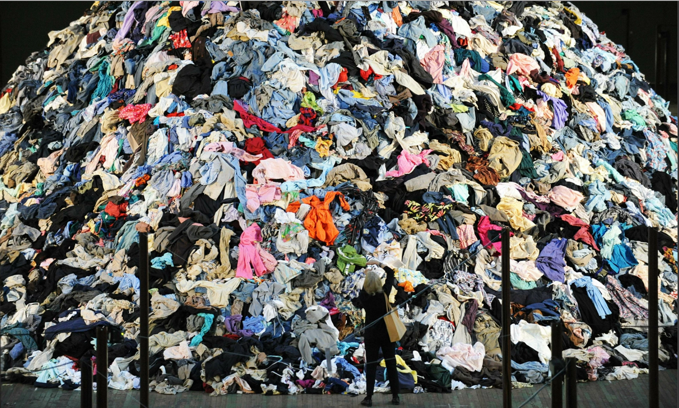 French artist Christain Boltanski's No Man's Land: 30 tonnes of discarded clothing. Photograph: Stan Honda/AFP/Getty Images