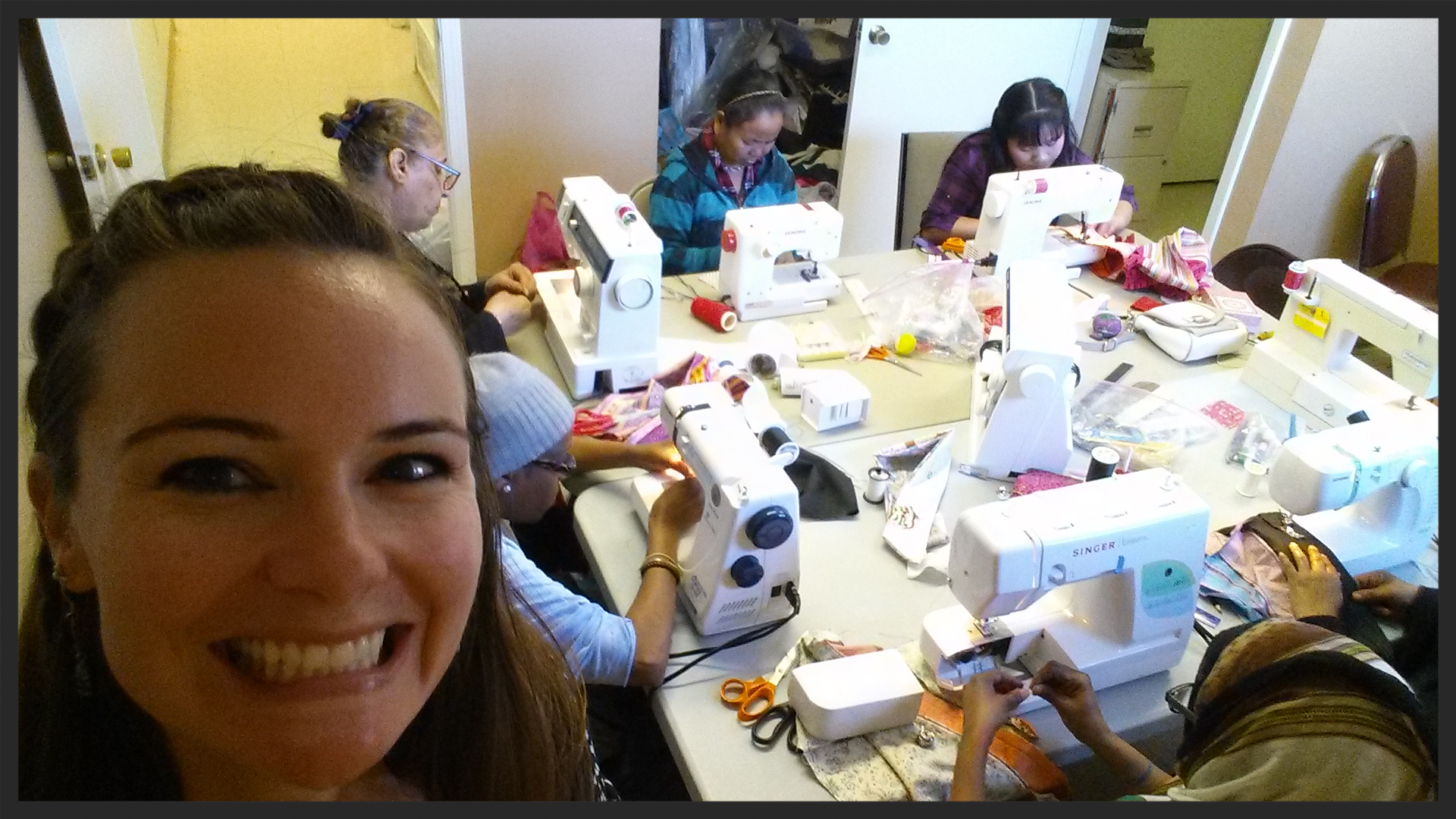 Friday morning sewing class at the Center for Refugee Services in San Antonio
