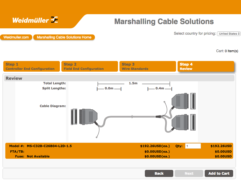 Marshalling Cable Configurator