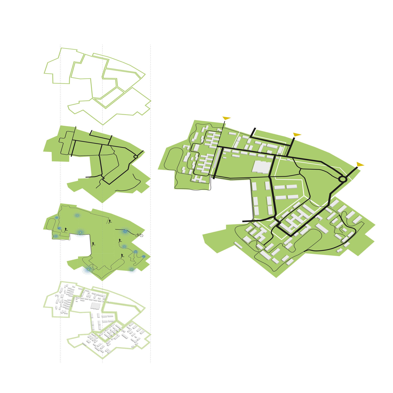 Landskab overordnet_zoner_veje_vand_bygninger