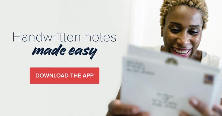 "Brand tagline: ""Handwritten notes made easy"""