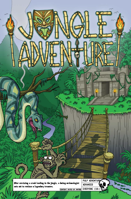 Jungle Adventure - After surviving a crash landing in the jungle, a daring archaeologist sets out to retrieve a legendary treasure.