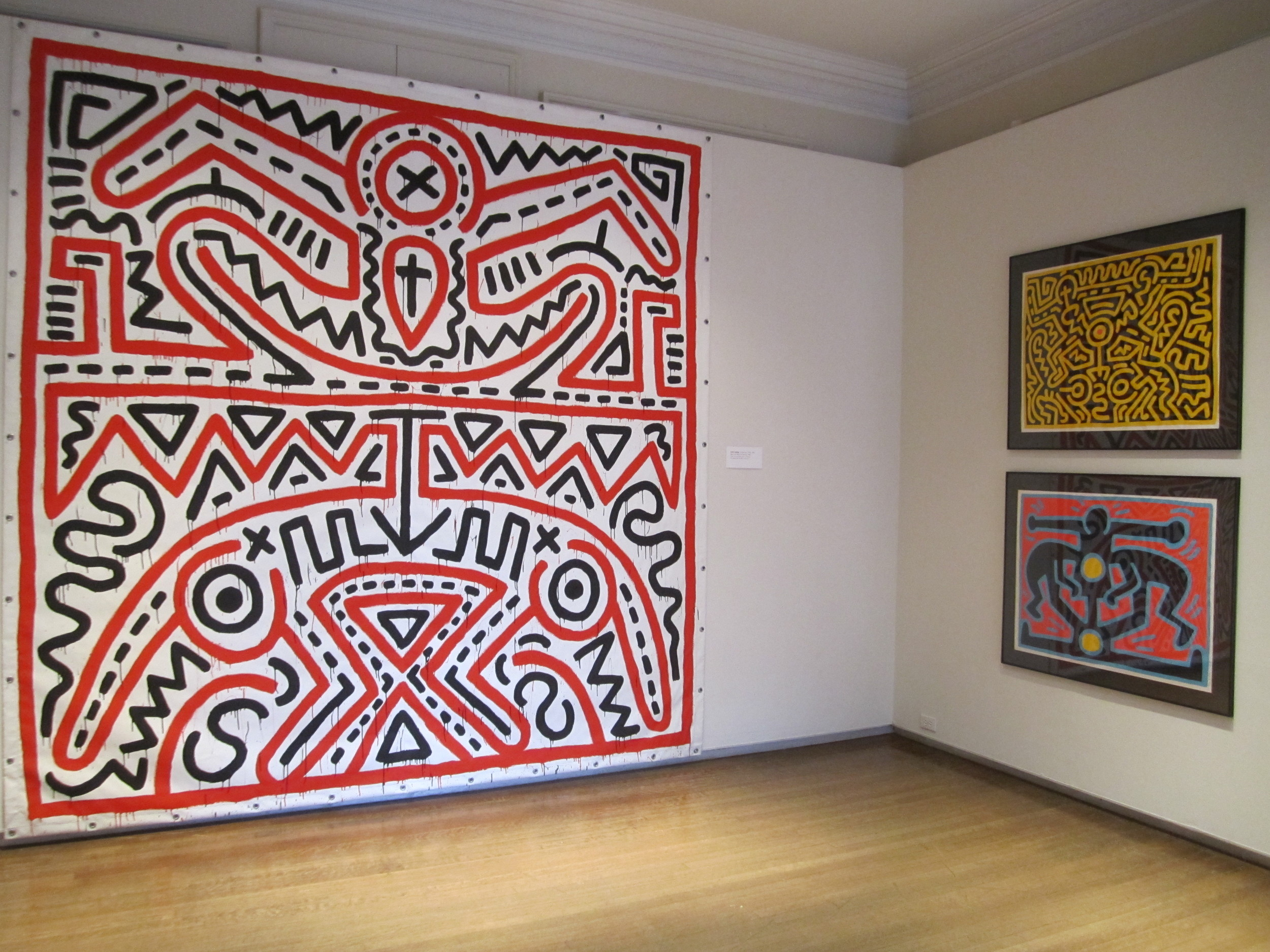 Keith Haring,  Red and Black Painting,  1983