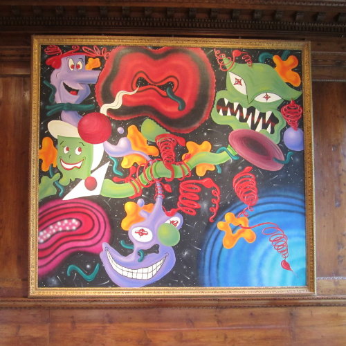 work by Kenny Scharf, Nassau County Museum of Art