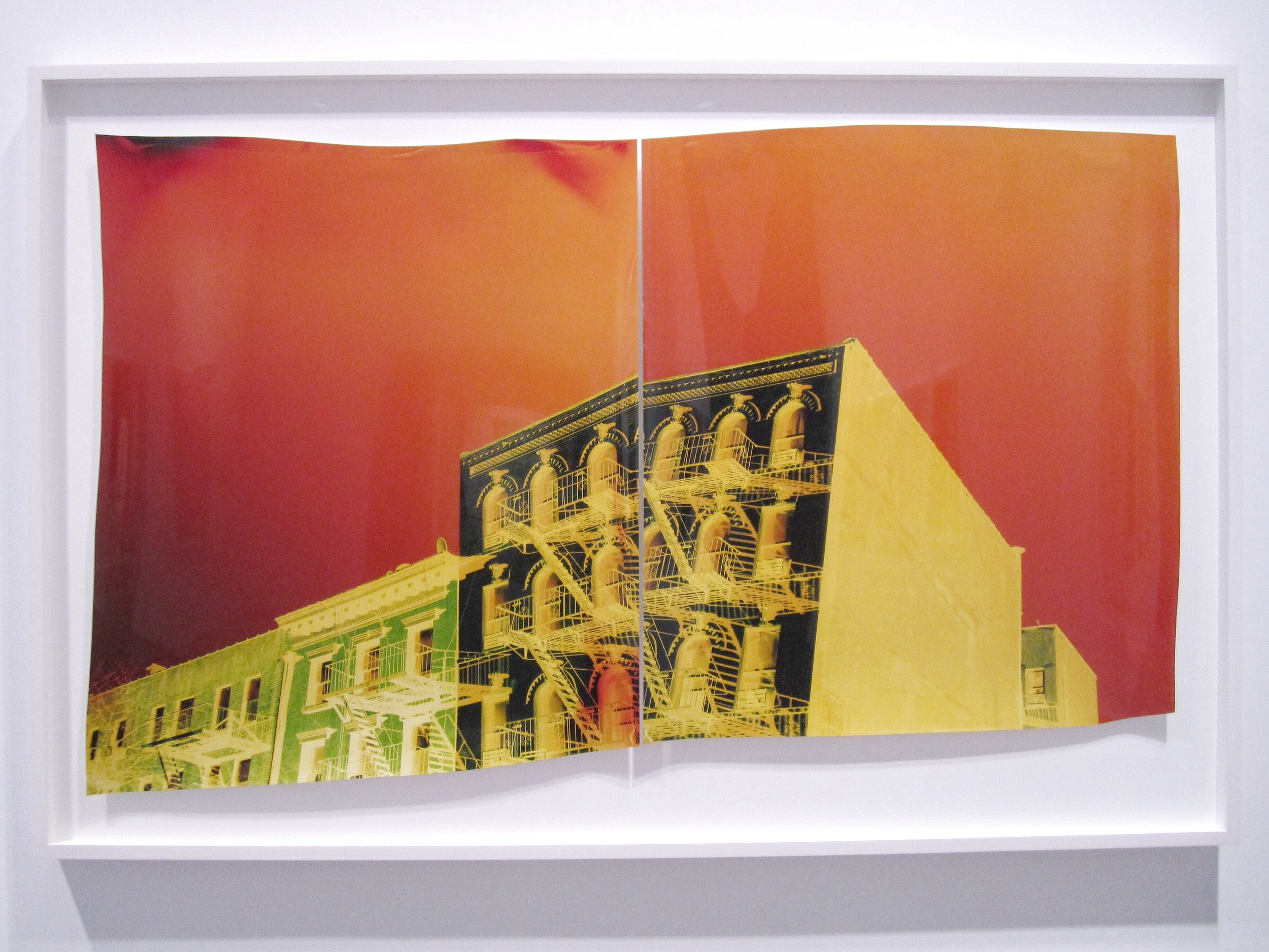John Chiara, E14th Street at Avenue A ,  Two Negative Chromogenic Photographs, 2015