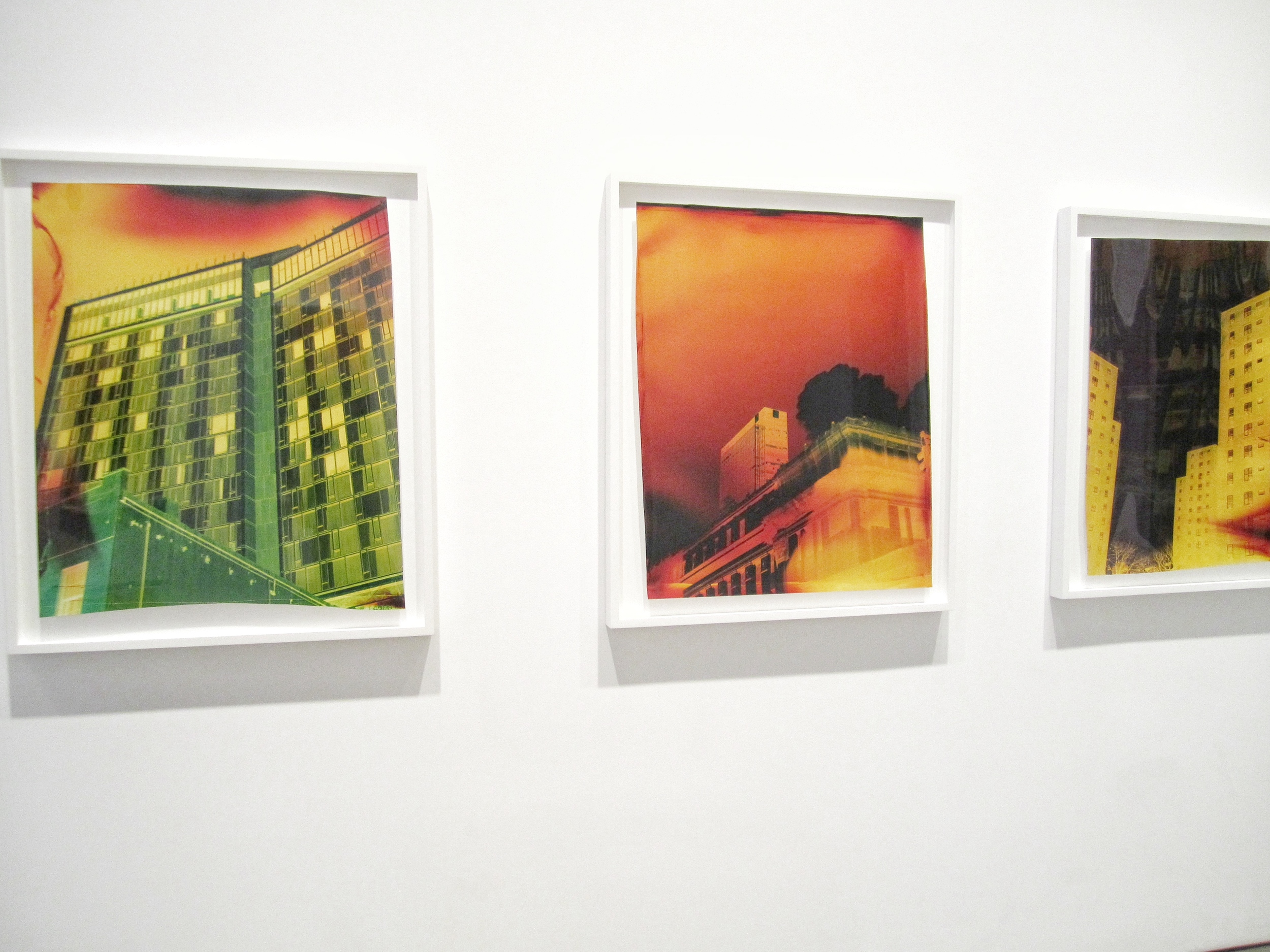 John Chiara, works from WEST SIDE AT TIORONDA exhibition,   Negative Chromogenic Photographs