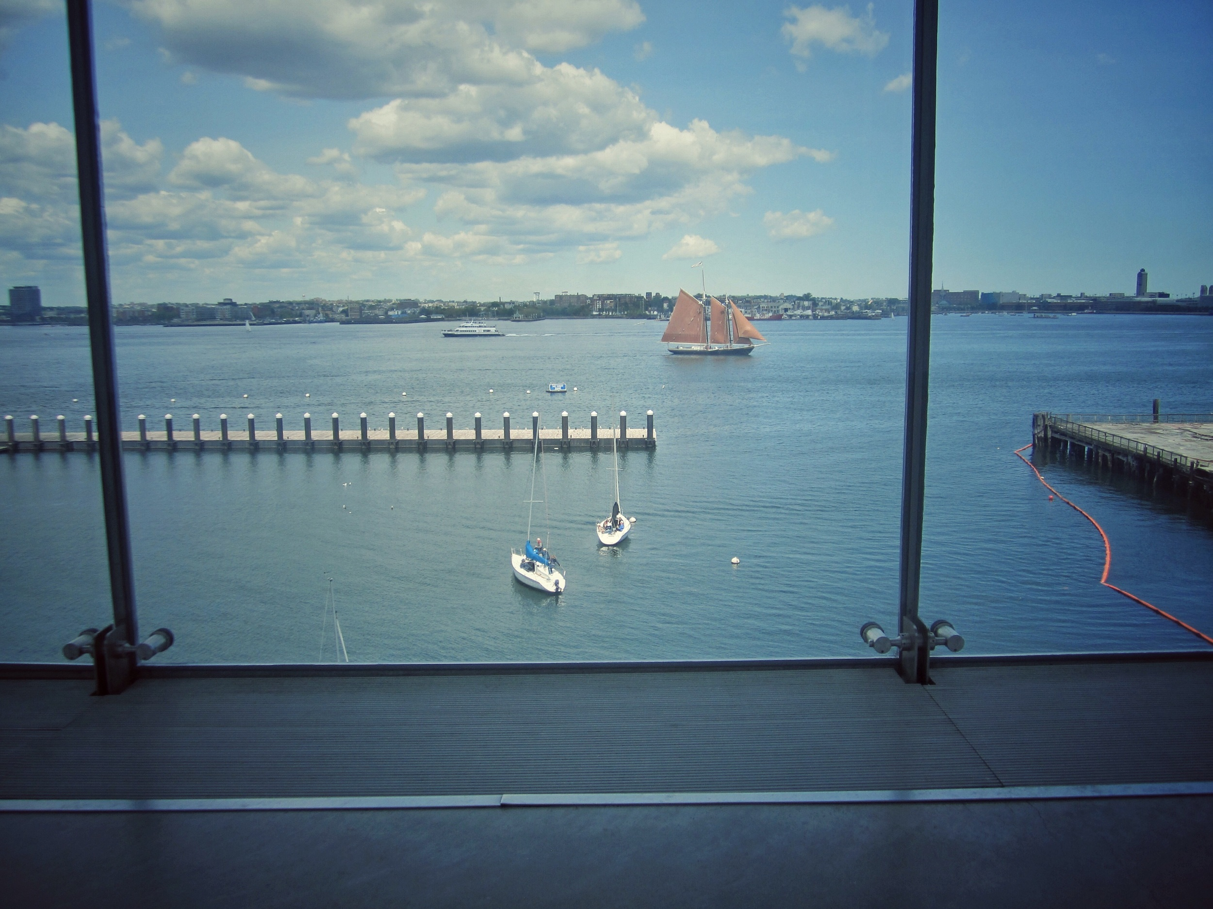 View from the 4th floor of the ICA
