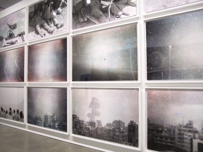 """Walid Raad, We decided to let them say, """"we are convinced"""" twice. It was more convinving this way , 1982/2006"""