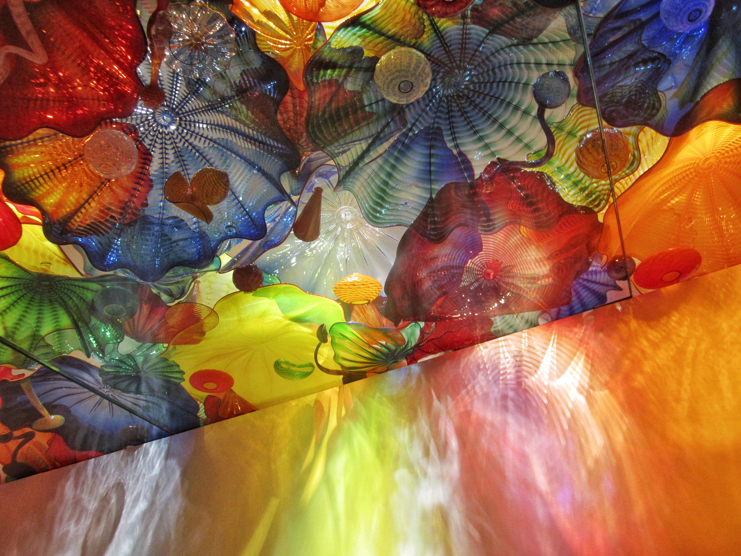 Detail of Chihuly's  Persian Ceiling  installation at the ROM