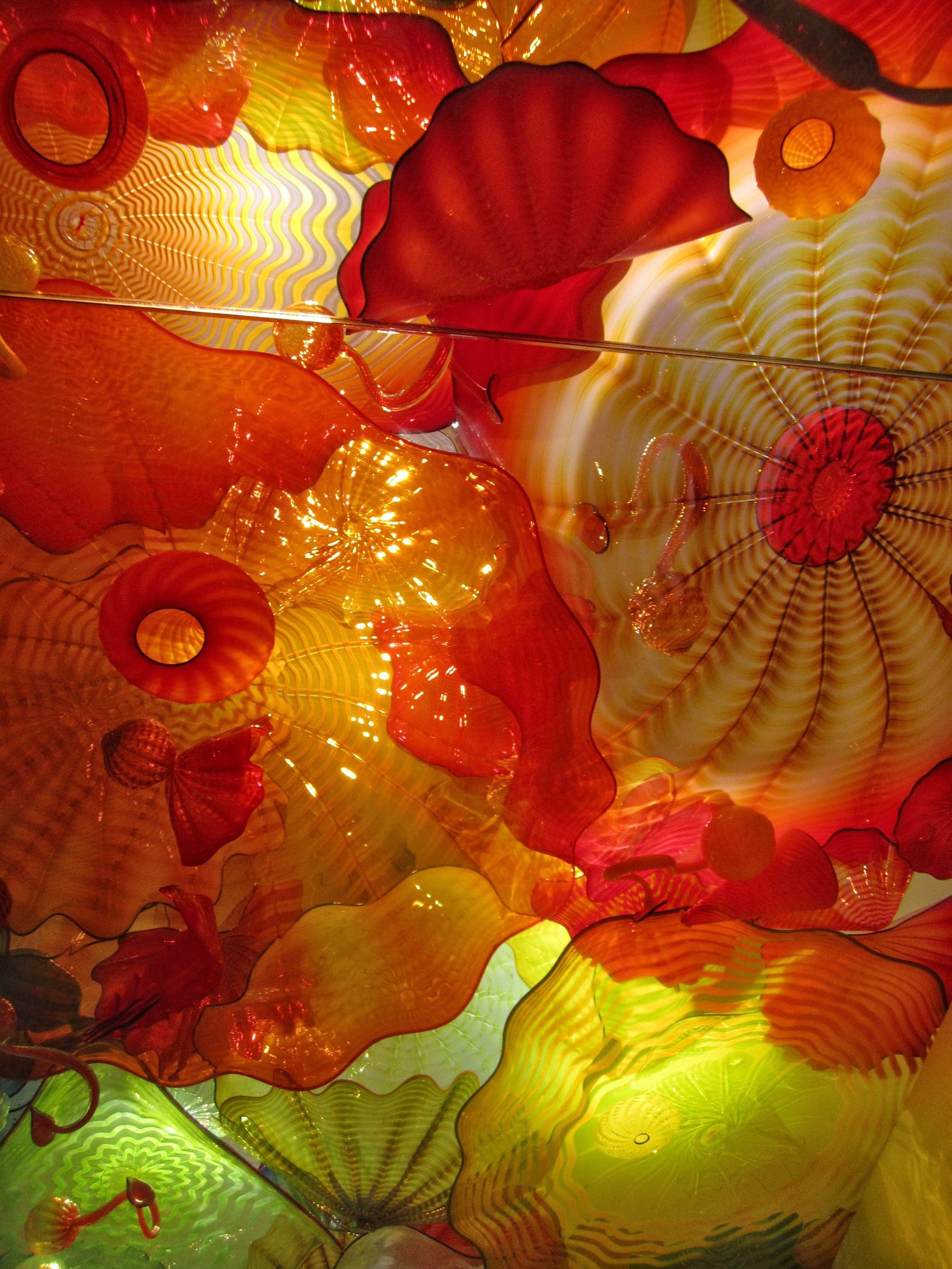 Detail of Chihuly's  Persian Ceiling  installation