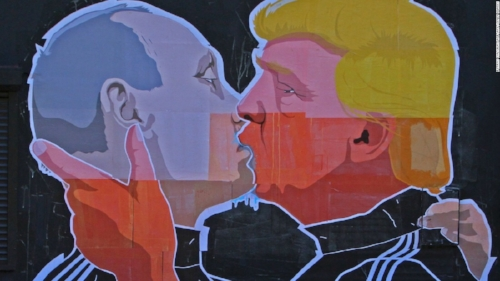 Mural of Trump and Putin, Unknown Artist