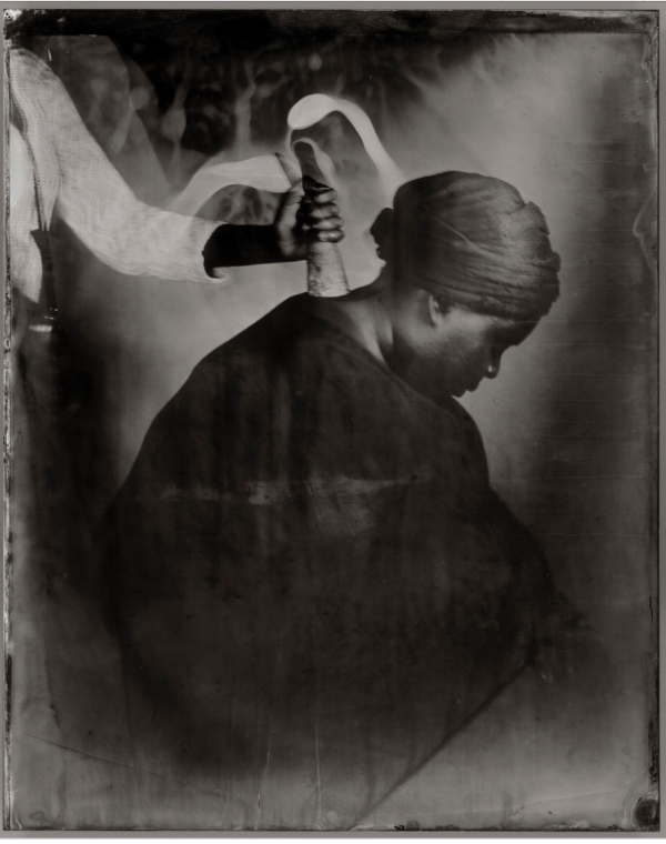 "Khadija Saye, wet plate collodion tintype from  ""Dwelling: in this space we breathe"" series"