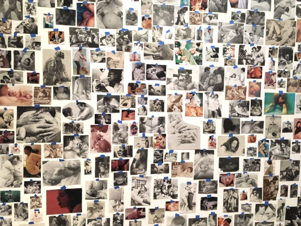 Carmen Winant (American, born 1983), selection from  My Birth,  2018. Found images and tape.