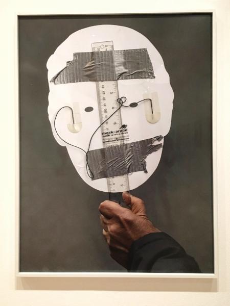 Matthew Connors (American, born 1976),  Mask in Reverse, 2016. Pigmented inkjet print.