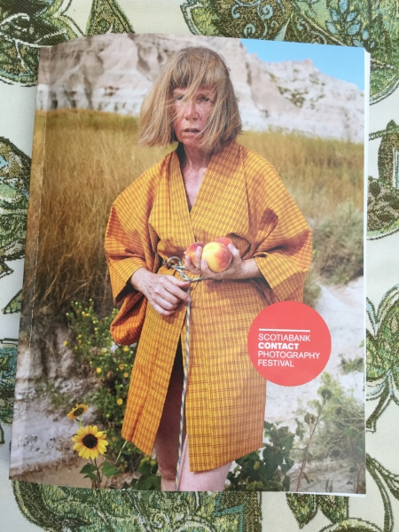 Catalog cover photo by Charlie Engman,  Mom Holding Peaches,  2014.