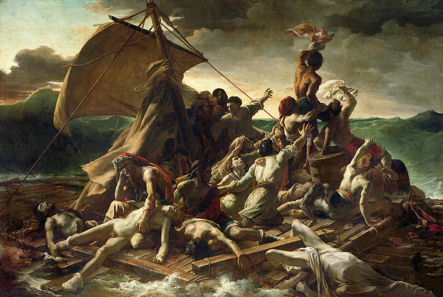 19th Century history paintings such as Theodore Gericault's   Raft of the Medusa  (1830)  were like the documentary films of their day.
