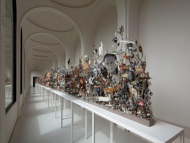 Geoffrey Farmer,  Leaves of Grass  (2012) exhibited at Documenta 13