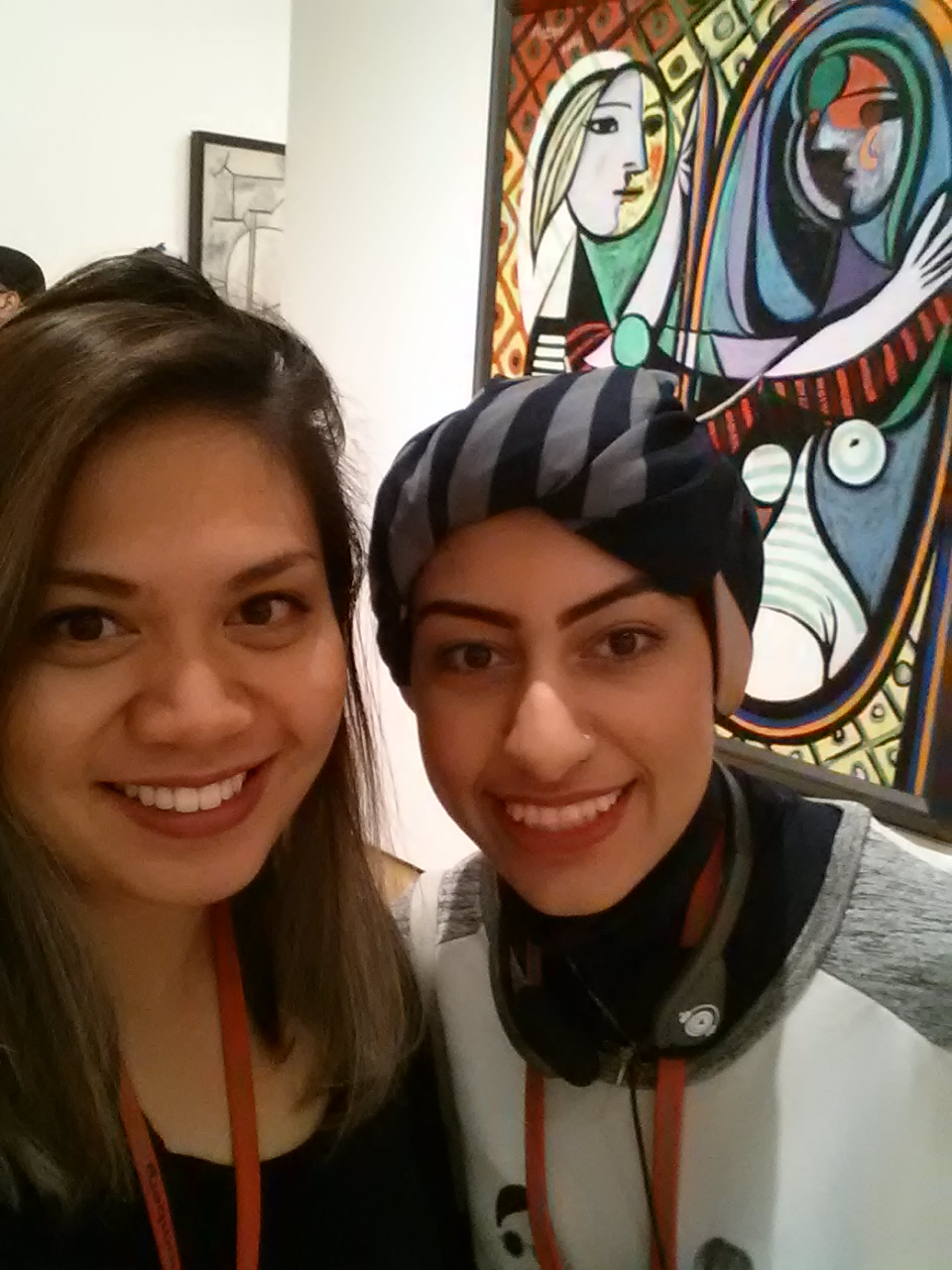 Pauline and Durrah enjoying the visit to MoMA