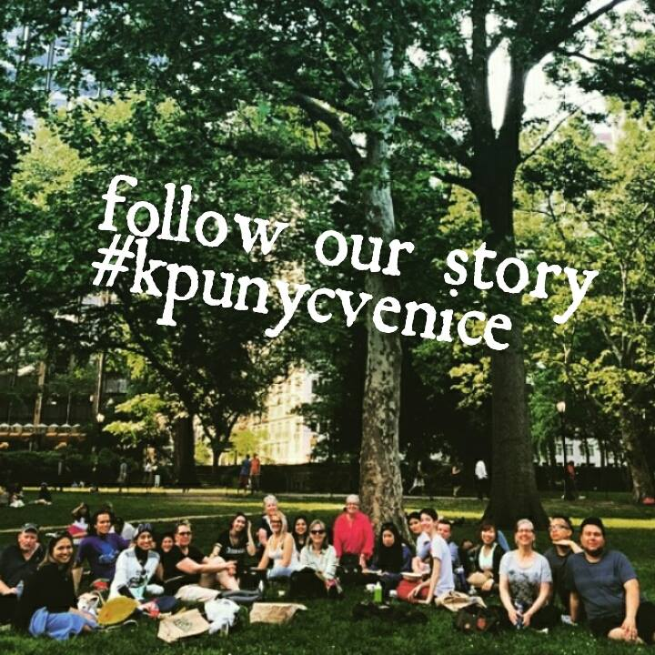Follow our art adventure by   clicking through to our Instagram feed   of shared images with the hashtag #kpunycvenice