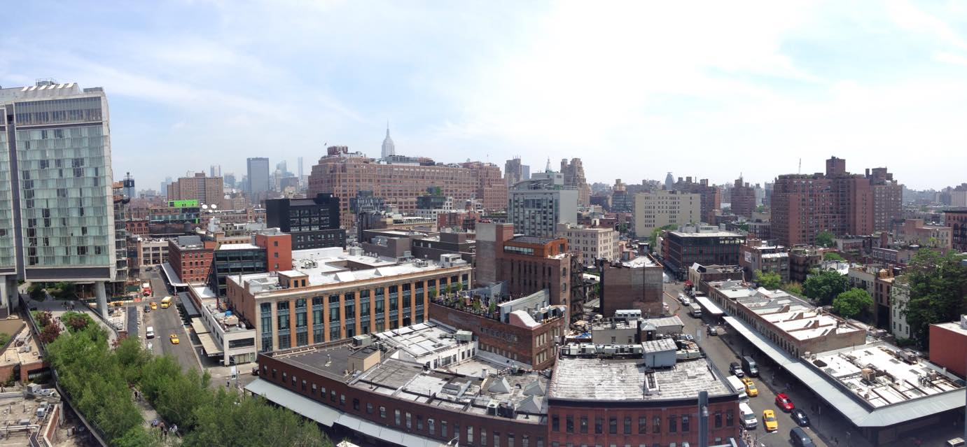 Jessica capturedthis fantastic panoramic shot of the Meatpacking District from the top of the new Whitney Museum.