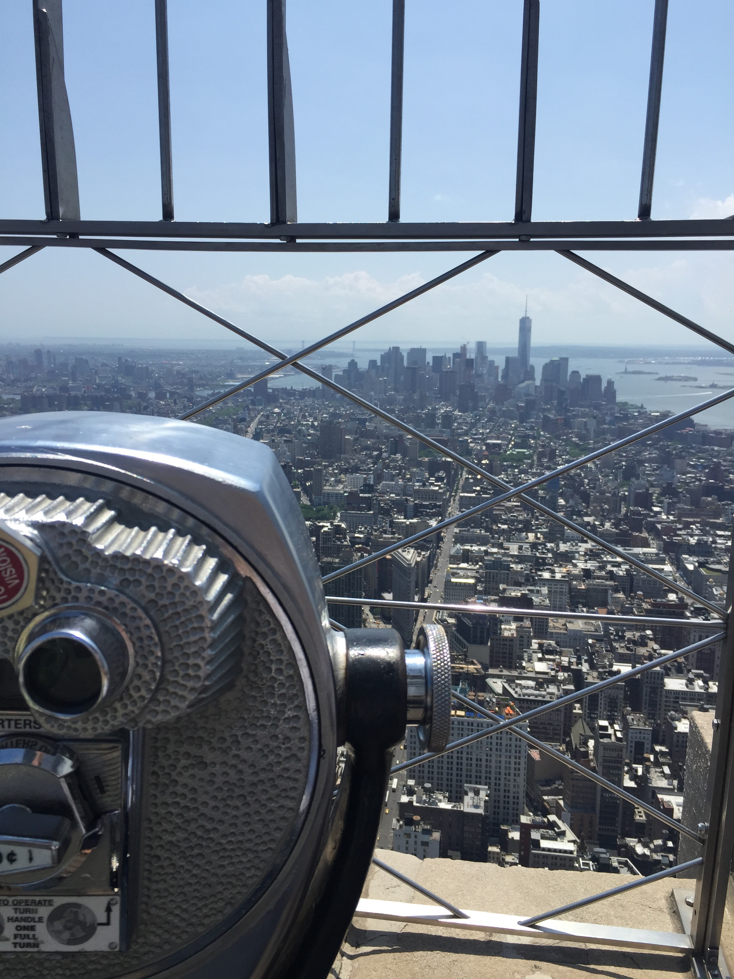 View from the Empire State Building look south on a beautiful clear NYC day.