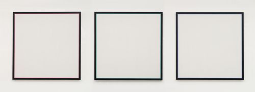 Cathrina was assigned Jo Baer's  Primary Light Group: Red, Green, Blue  (1964-65) from MoMA's collection.