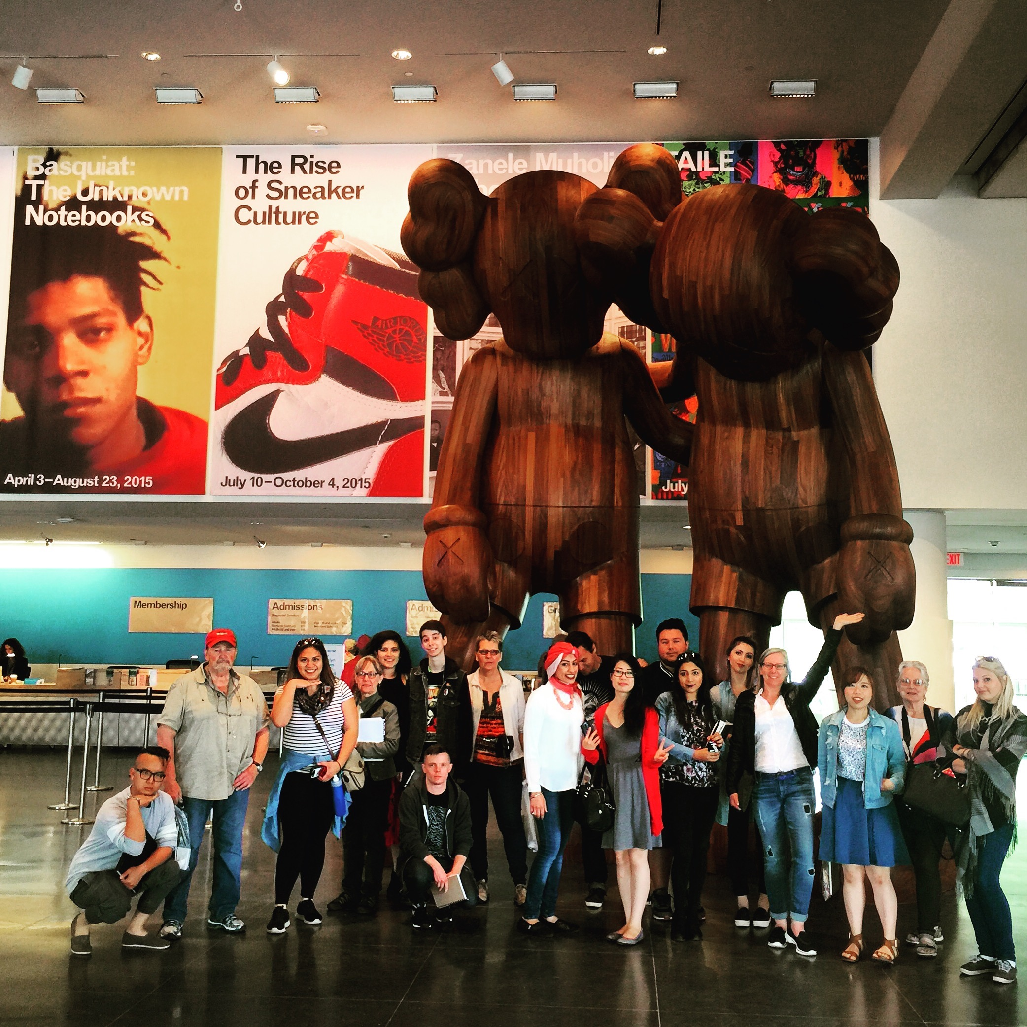 Group photo at the Brooklyn Museum-- Cathrina is the third person from the right in the right hand side of the photograph.
