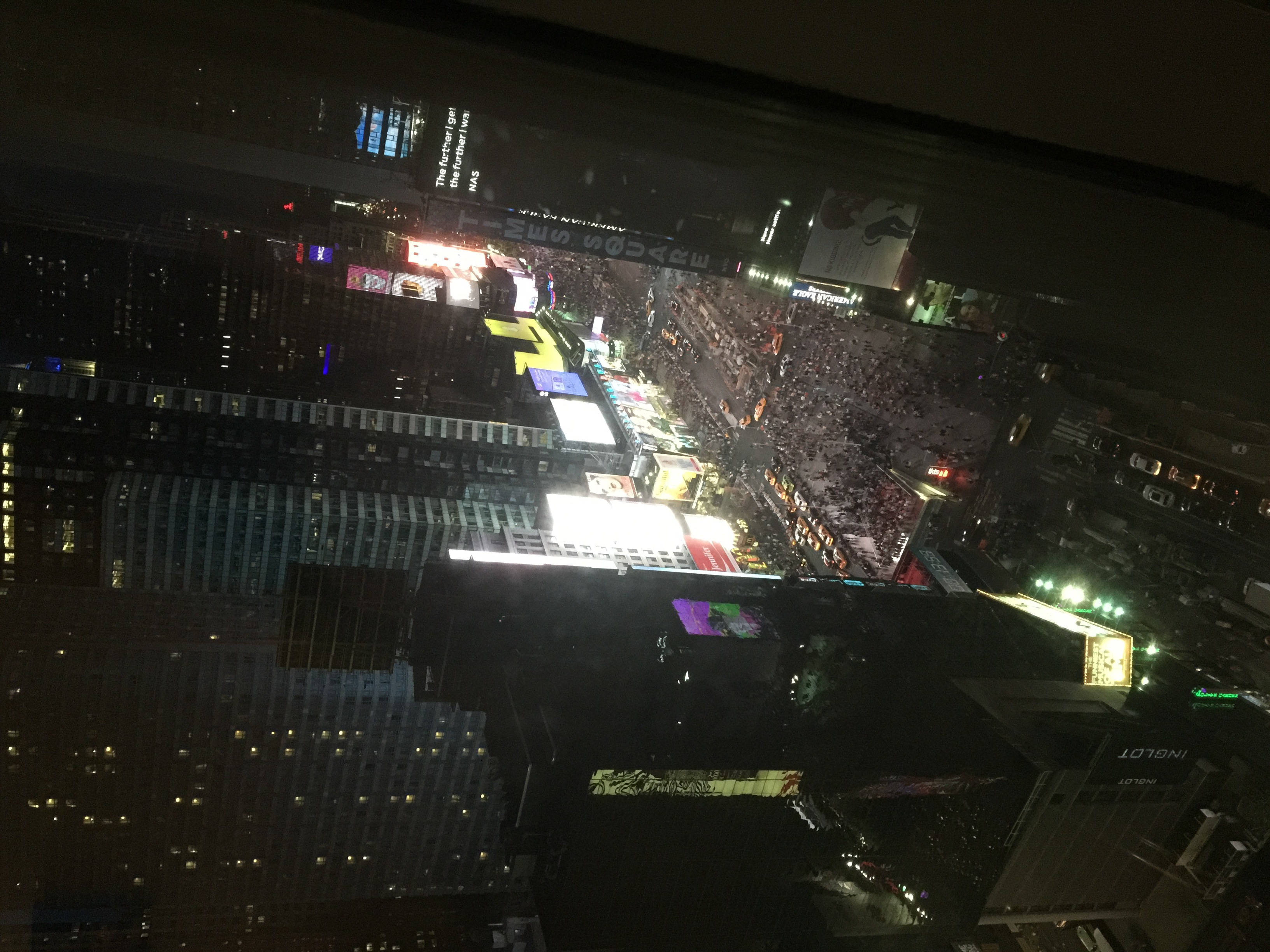 Olivia captured this great shot of Times Square from a high vantage point.