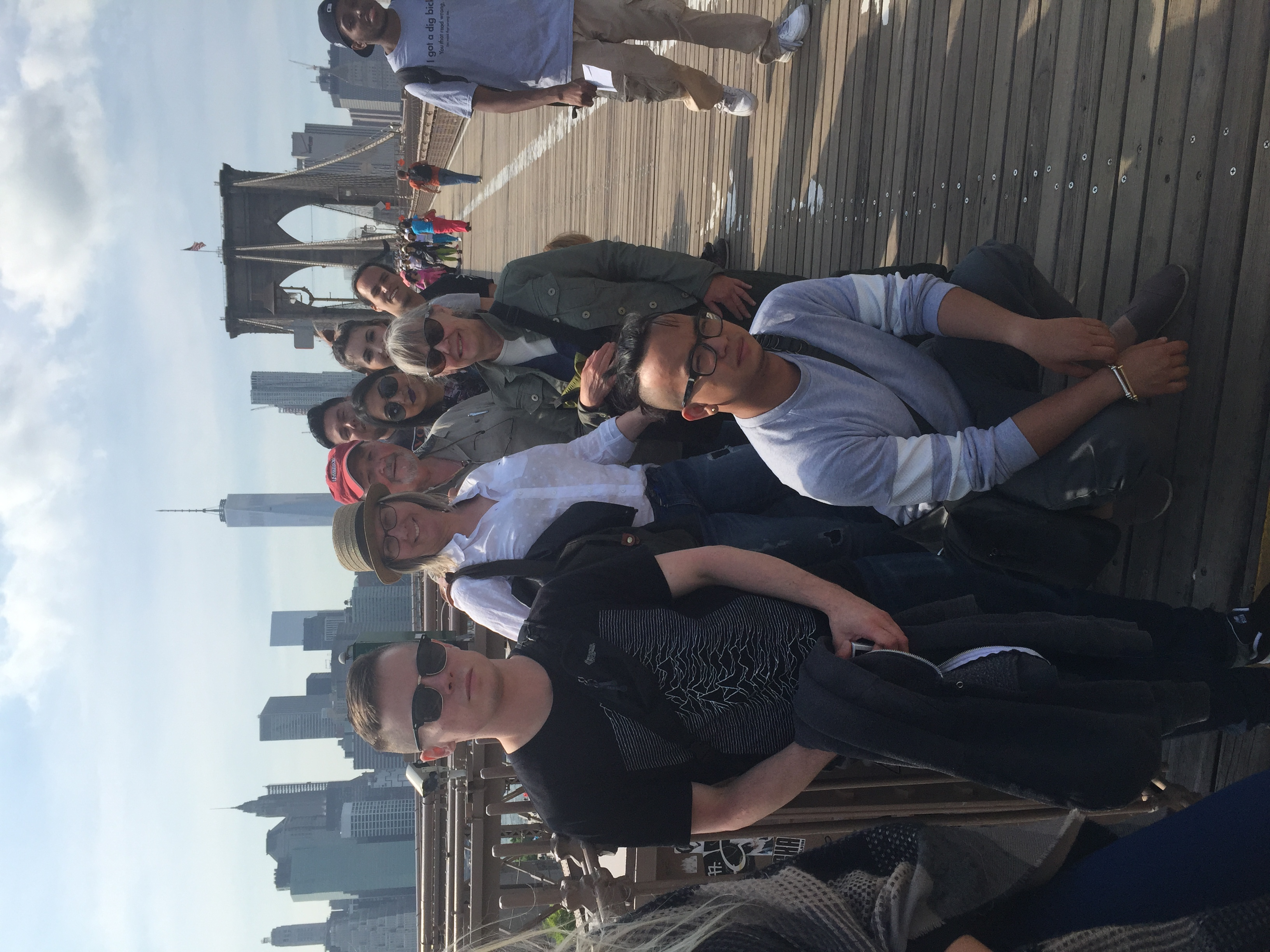 Walking the Brooklyn Bridge was a fantastic opportunity to take in another perspective of the Brooklyn and Manhattanskyline. Eric at the very front of the group.