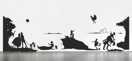 Merry was assigned Kara Walker's  An Historical Romance of a Civil War as it Occurred Between the Dusky Thighs of One Young Negress and Her Heart  (1994).