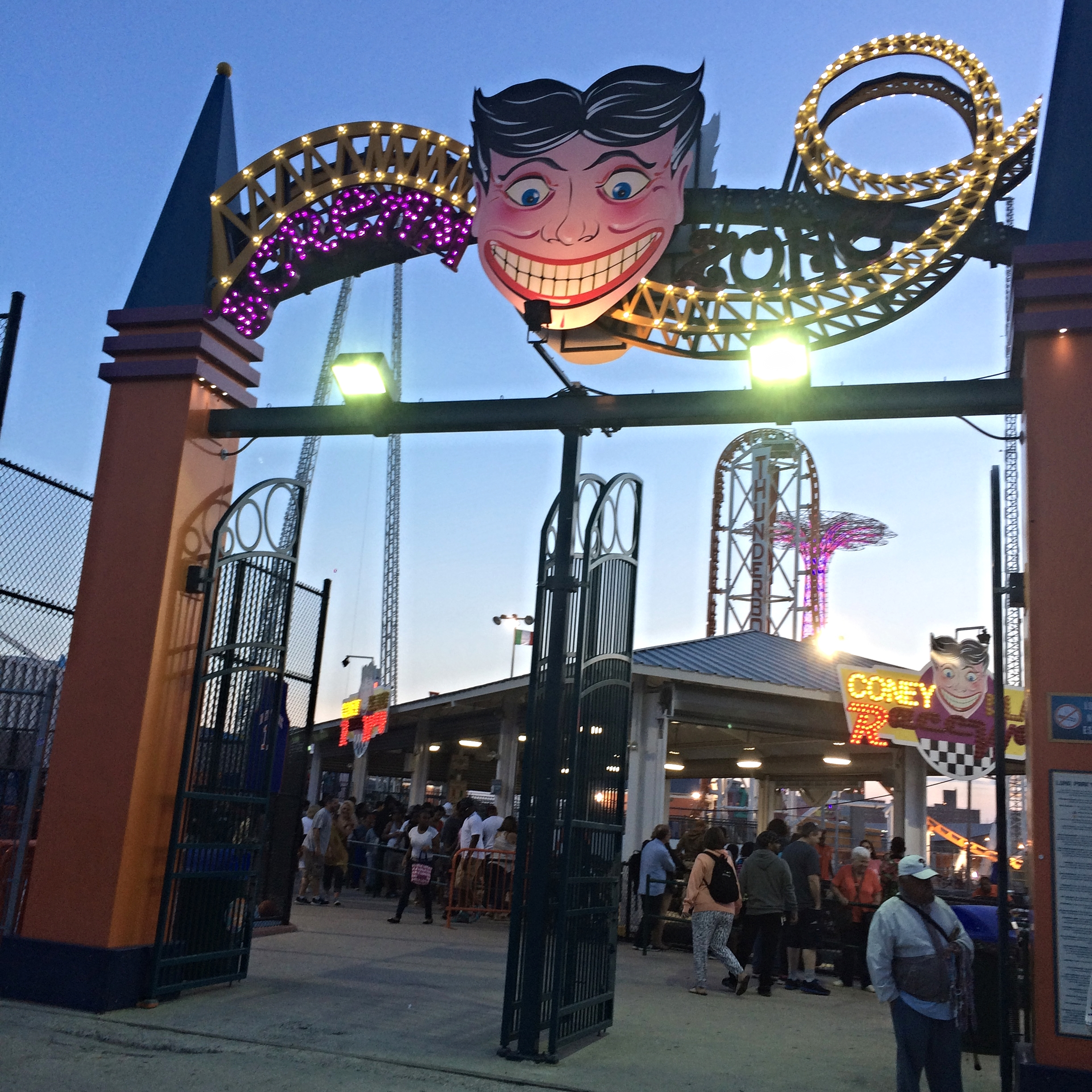 One of Roxanne's favourite New York moments was her visit toConey Island.
