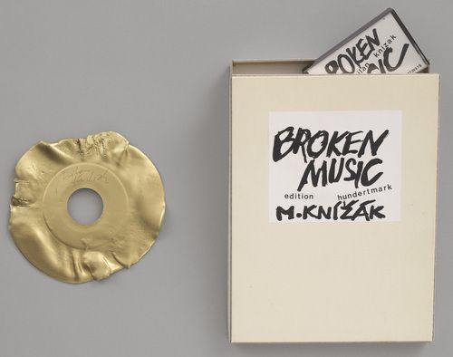 Angela was assigned Milan Knizak's  Broken Music  (1983) at MoMA.