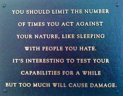 Andi was assigned Jenny Holzer's You Should Limit the Number of Times... (1980-82) from MoMA's collection