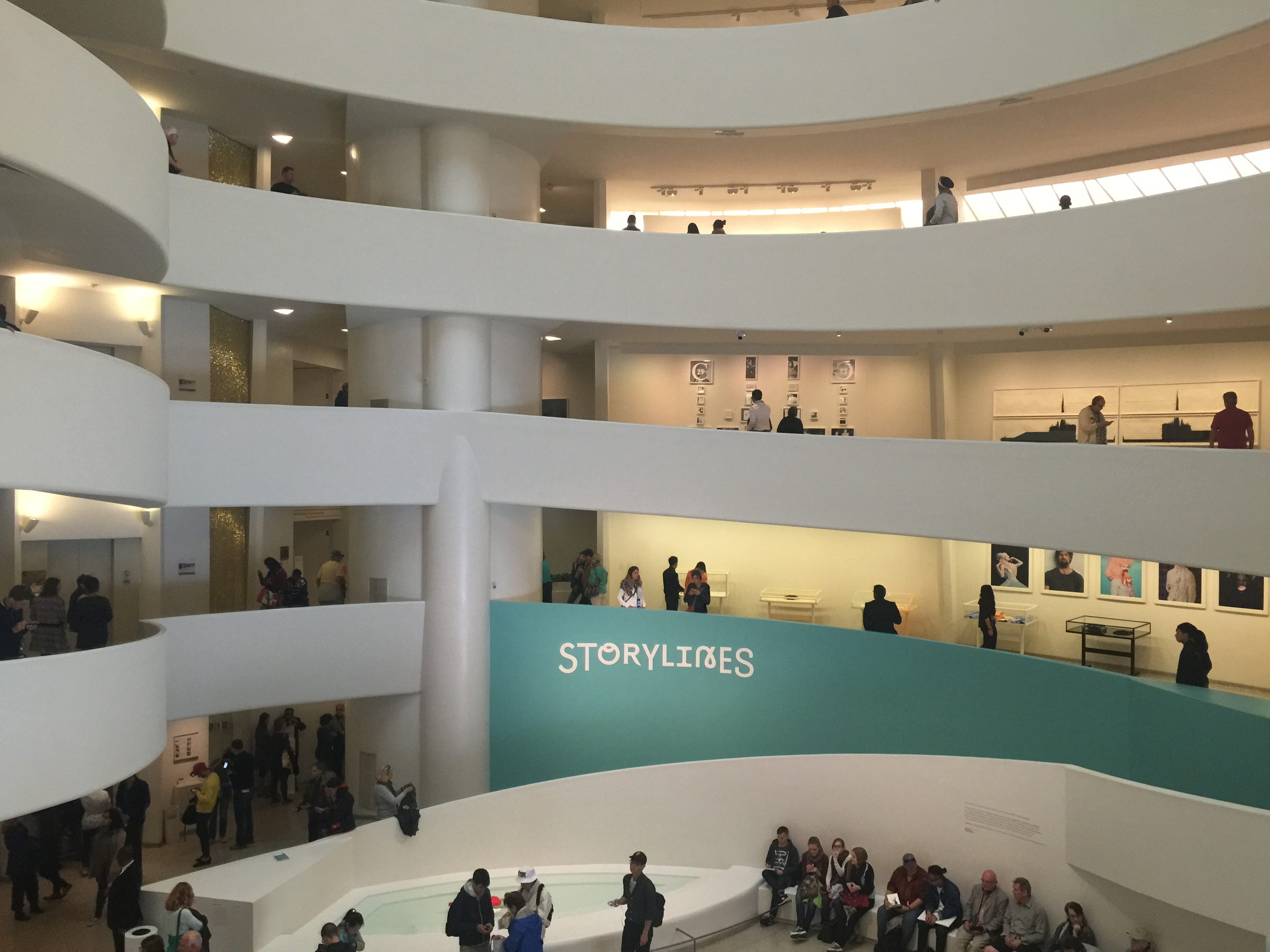 Inside the spaces of the Guggenheim Museum.
