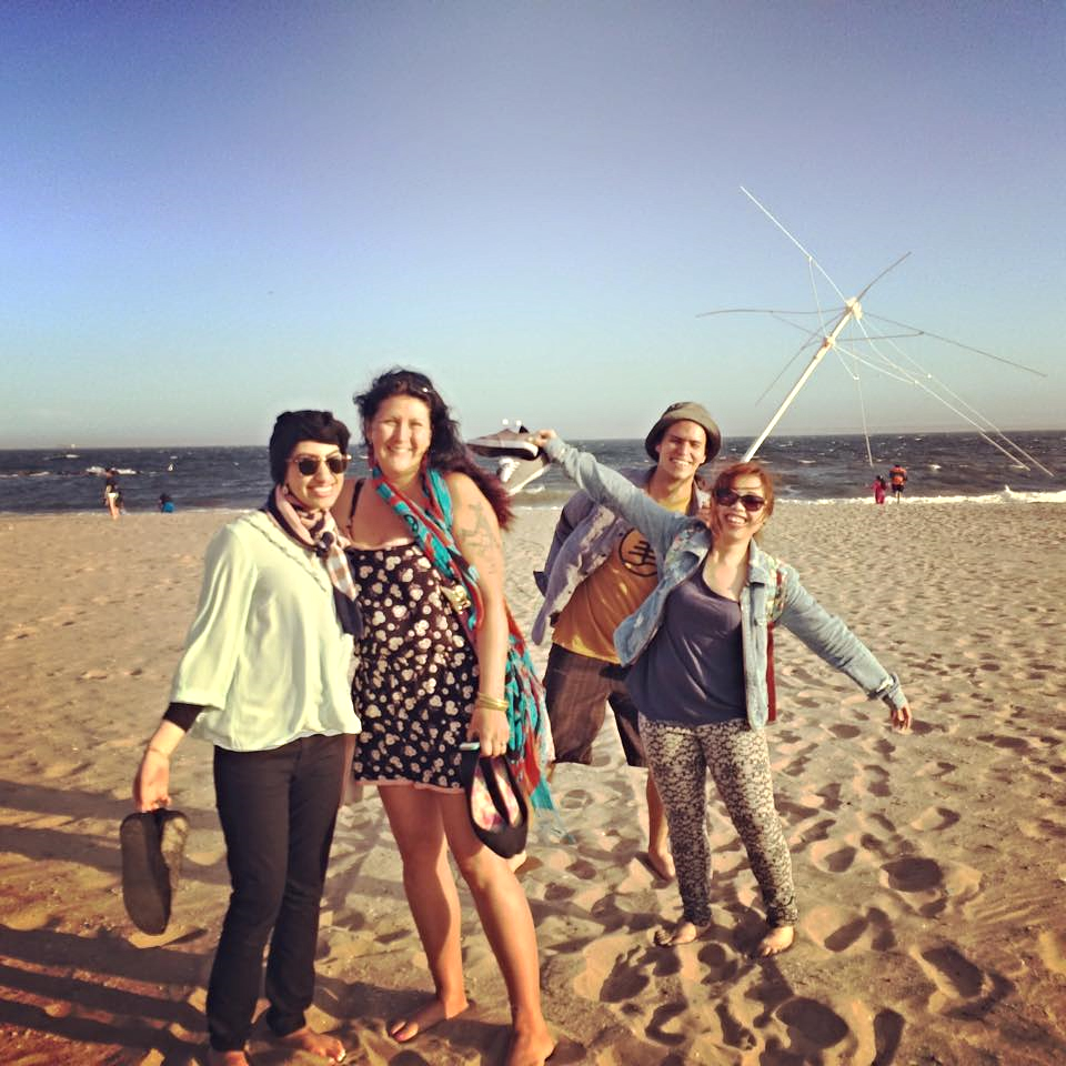 Durrah (on the far left), with Roxanne, Cody, and Cathrina at Coney Island.