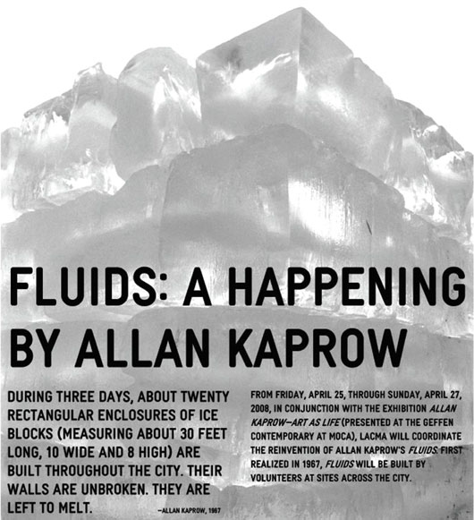 Several art institutions (such as LACMA above) have re-performed Allan Kaprow's happening works since his death in 2006. It is Berlin's turn this fall!