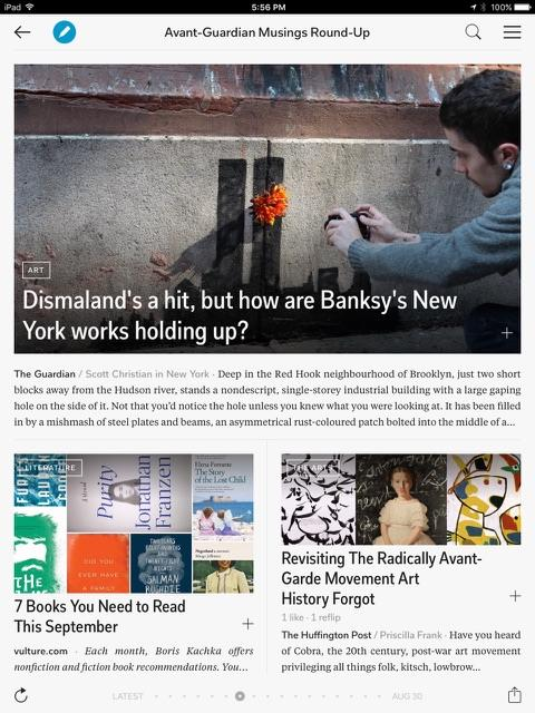 One of the best features of Flipboard is that you can collect stories and information on highly targeted topics.