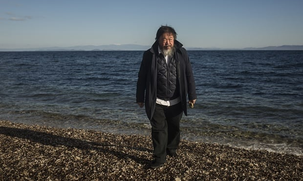 """""""Ai Weiwei sets up studio on Greek island to highlight plight of refugees"""""""