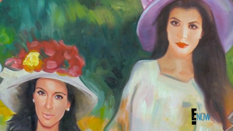"""A Match Made in Hell: Mr. Brainwash Paints the Kardashians à la Renoir"""