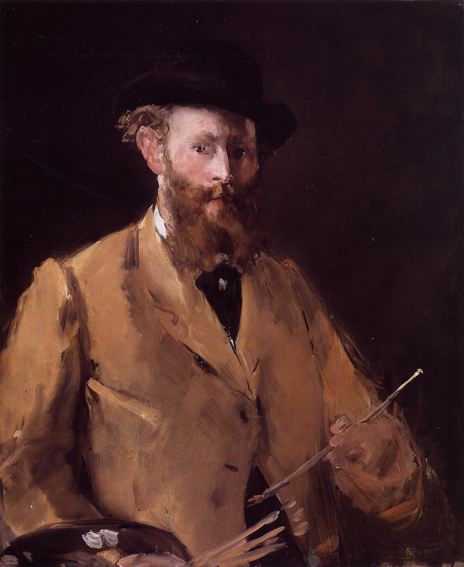 Edouard Manet, a French nineteenth century painter and one of the most influential painters on the Impressionist movement produced  Olympia.  This is a self portrait from 1878.