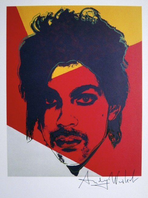 """Andy Warhol, Prince  (1986).""""All people care about nowadays is getting paid, so they try to do just what the audience wants them to do. I'd rather give people what they need rather than just what they want."""" Prince quoted in 1984."""