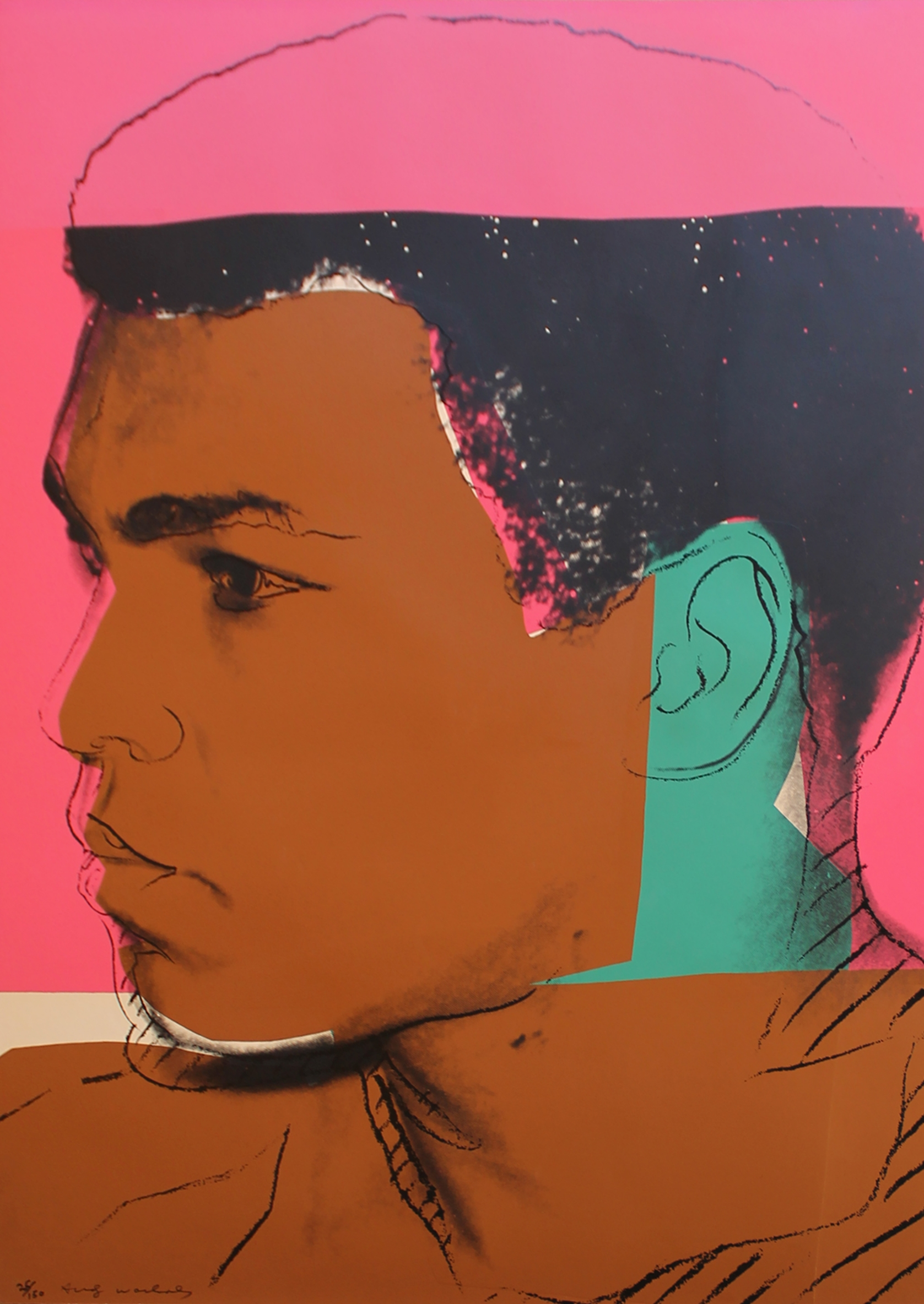 Andy Warhol,  Muhammad Ali (Athlete Series)  (1977). RIP to another legend lost this year.