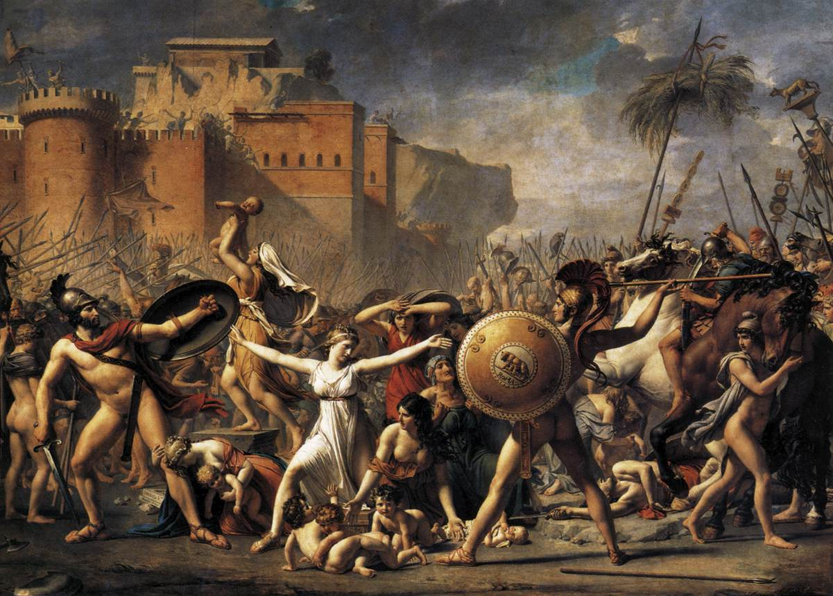 Jacques Louis David,  Intervention of the Sabine Women  (1796-1799)