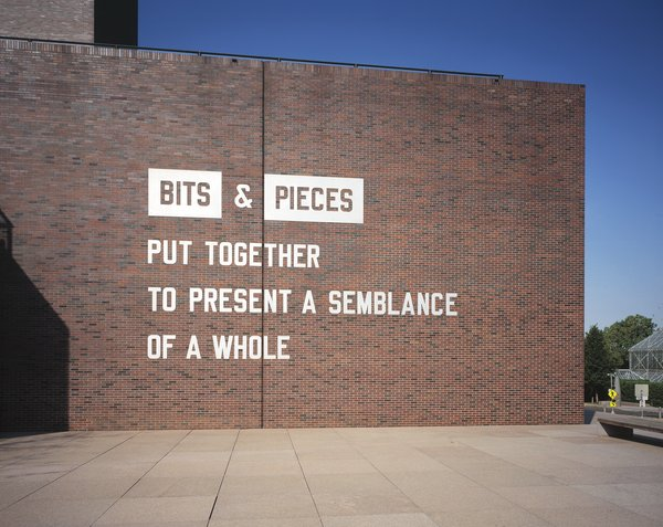 Lawrence Weiner, Bits And Pieces Put Together To Present A Semblance Of A Whole  (1991)