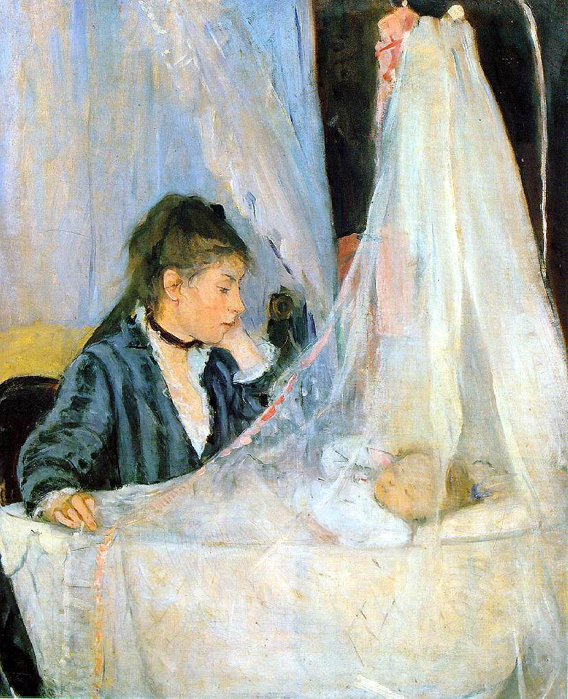 Berthe Morisot,  The Cradle  (1872) is Margot's assigned painting from the Orsay.