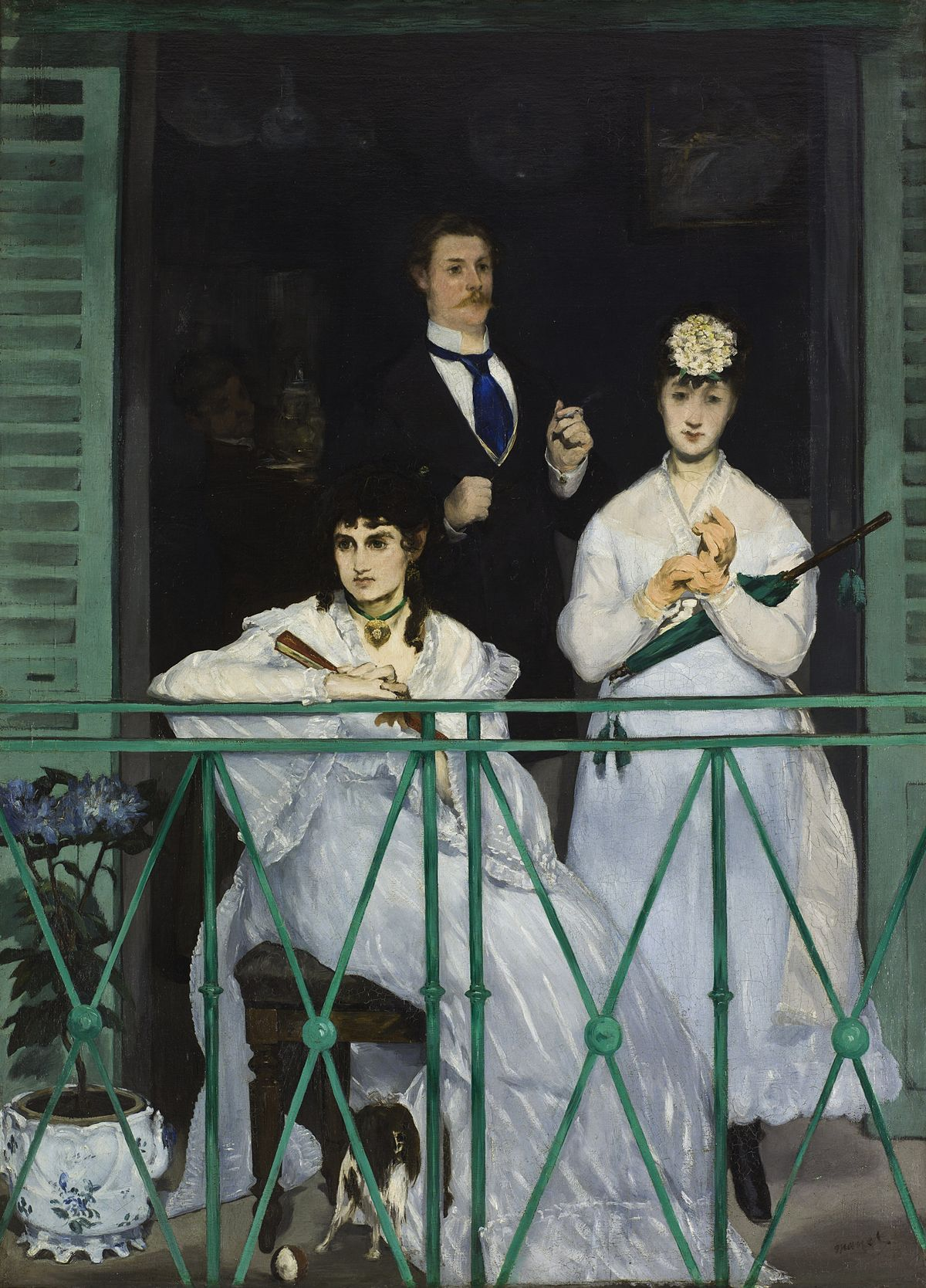 Graham was assigned Edouard Manet's  The Balcony  (1868-69) for the field school.