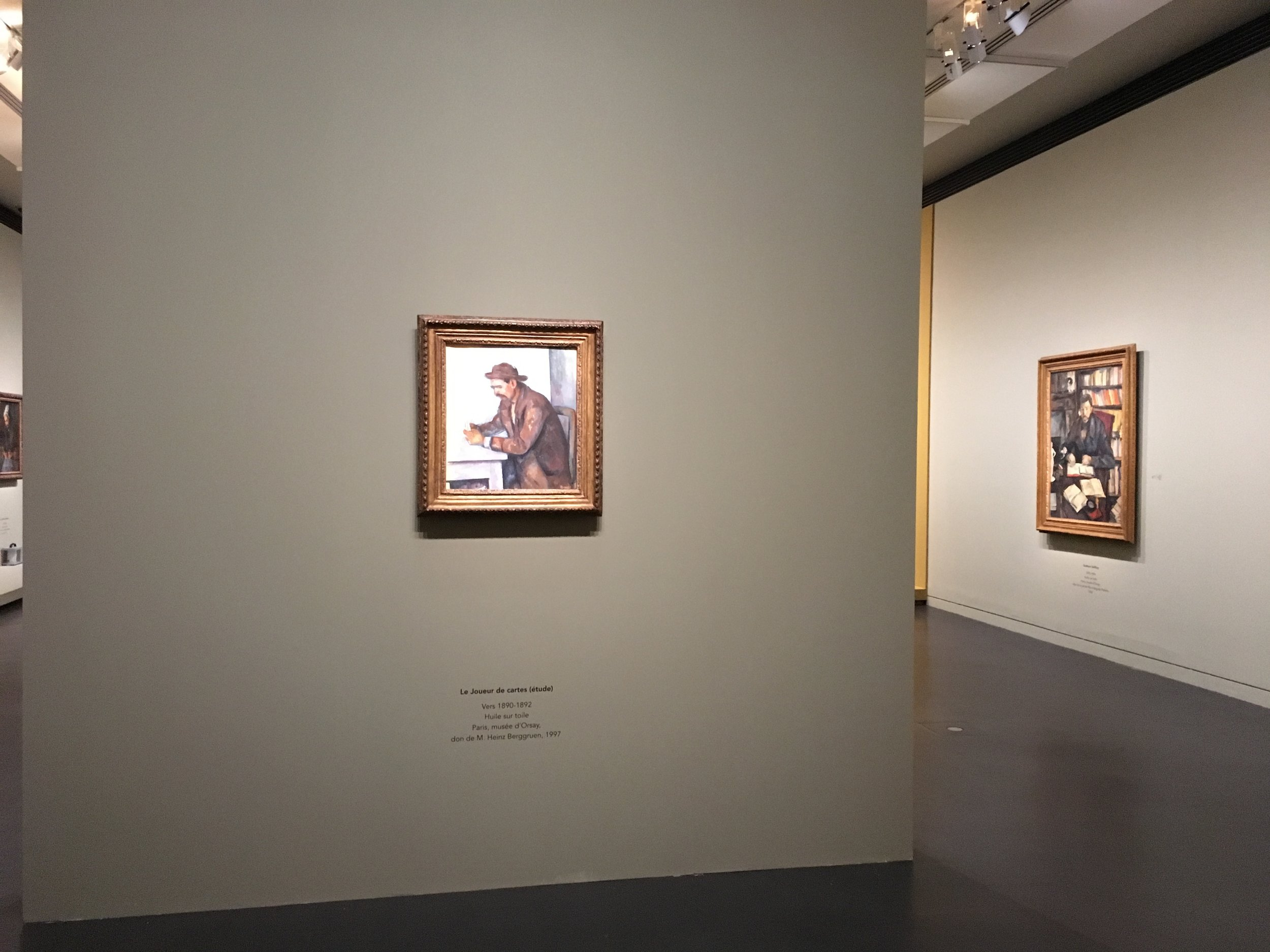 Alice was fortunate to see her painting (on the right wall) in a special Cezanne portraiture exhibition.