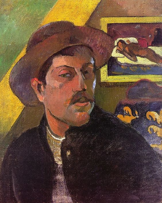 Nielsen was assigned Paul Gauguin,  Self Portrait With A Hat  (1893-4) from the Orsay Museum.
