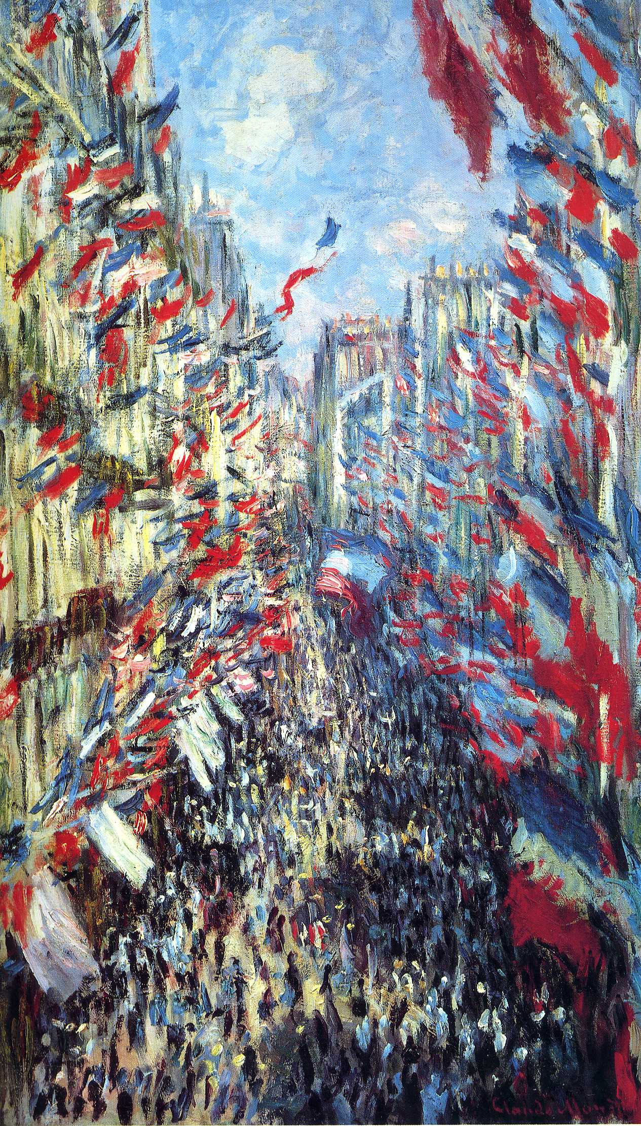 Dorothy was assigned Monet's  Rue Montorgueil  (1870) from the Orsay collection.