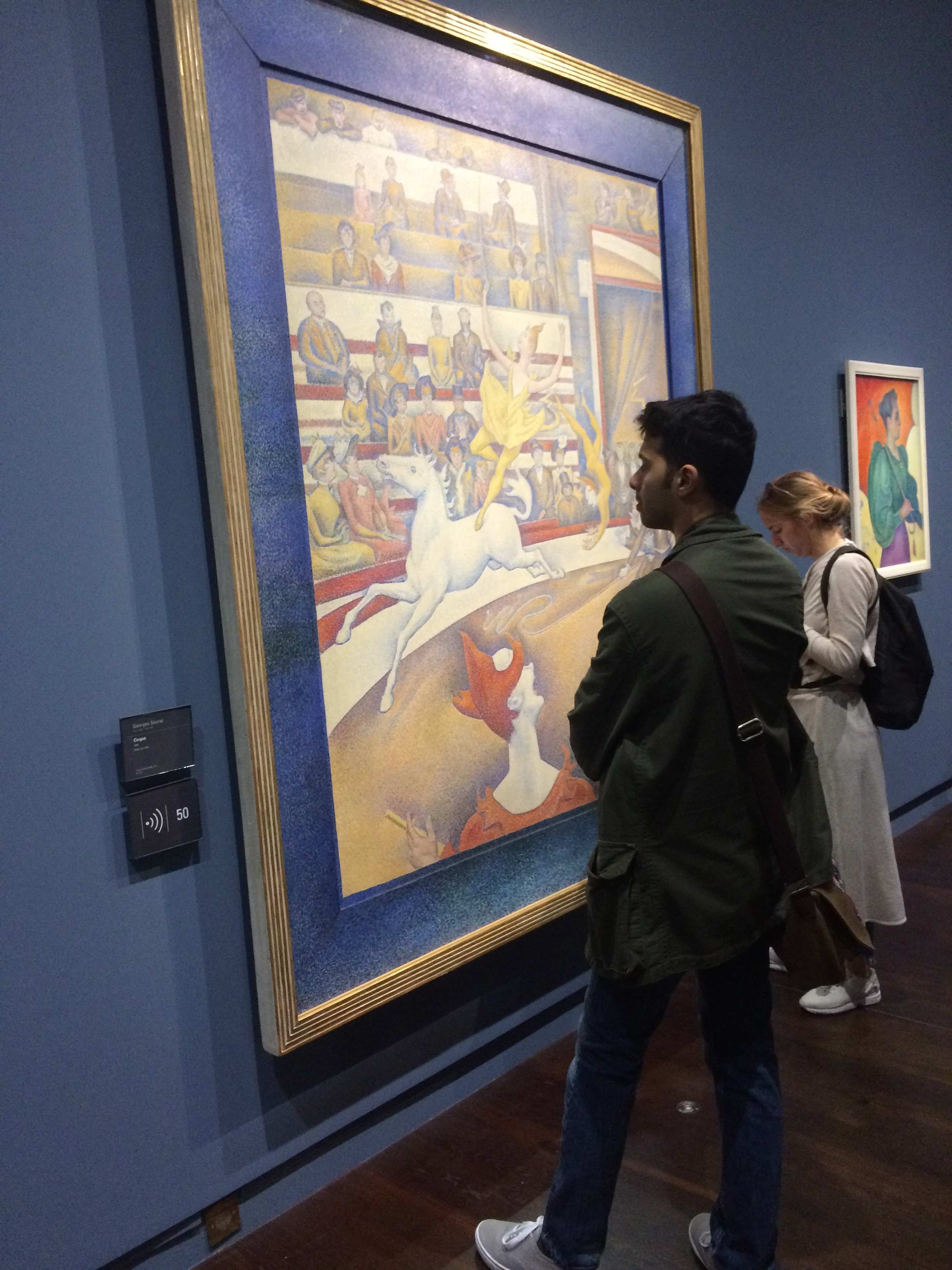 Seeing his assigned image up close, Stephane was surprised by his reaction to Seurat's painting.